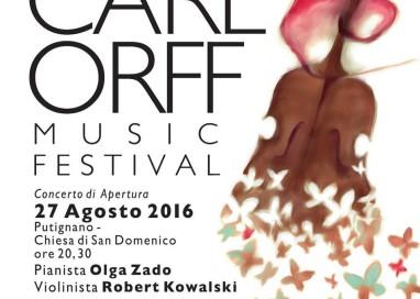 """""""CARL ORFF MUSIC FESTIVAL"""" 2016: DAL 26 AGOSTO AL 4 SETTEMBRE I CONCERTI DELLA X EDIZIONE"""