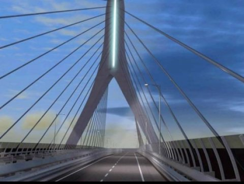 Renzi a Bari inaugura il Ponte sospeso