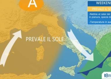PONTE OGNISSANTI. ANTICICLONE con temperature in aumento. Clima gradevole