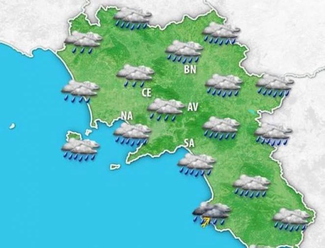 Campania, allerta meteo Protezione civile fino a lunedì
