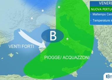 nuovo peggioramento sull'ITALIA, attese piogge, temporali e NEVE sull'Appennino