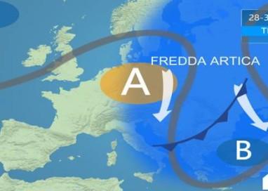 Aria gelida lambisce l'Italia. Temperature in calo
