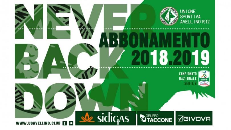 Campagna abbonamenti 2018-2019 Avellino Calcio