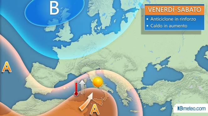 Anticiclone africano in arrivo, tempo soleggiato e molto caldo da Nord a Sud
